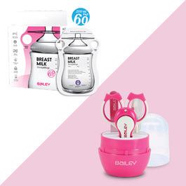BAILEY感溫母乳儲存袋(指孔型60入)+指甲剪四件組