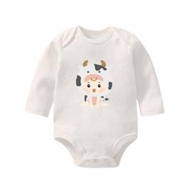 寶寶棉柔包屁衣 牛寶寶 長袖