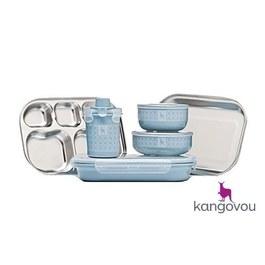 Kangovou不鏽鋼餐具組 野莓藍