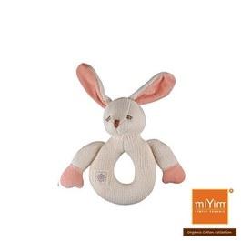 miYim有機棉固齒手搖鈴 兔兔