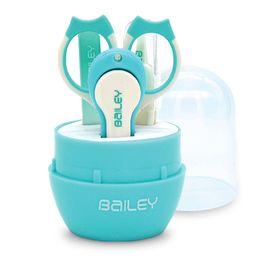 BAILEY寶寶安全指甲剪4件組(水藍)