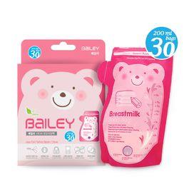 BAILEY感溫母乳儲存袋(壺嘴型) 200ml 30入