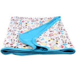 【薄款 附收納袋】mezoome有機棉舒適被 土耳其藍
