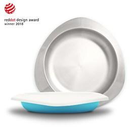 VIIDA Soufflé 抗菌不鏽鋼餐盤-寶貝藍