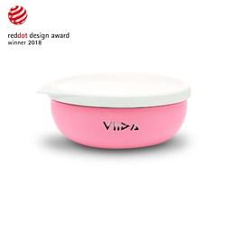VIIDA Soufflé 抗菌不鏽鋼餐碗-甜心粉