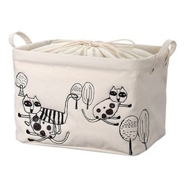 cindymode 方型刺繡收納袋(中)-三隻折耳貓