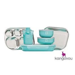 Kangovou不鏽鋼餐具組 薄荷綠