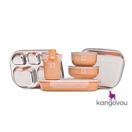Kangovou不鏽鋼餐具組 奶油橘