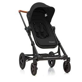 丹麥Seed - Papilio頂級嬰兒推車 (黑車架+黑座椅)