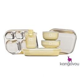 Kangovou不鏽鋼餐具組 檸檬黃