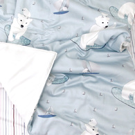 Kangaruru親膚抗菌防蹣寶貝毯 冰雪熊緣
