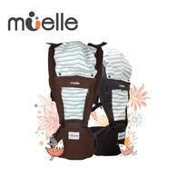 Muelle 坐墊式嬰兒腰凳背巾 咖啡幾何