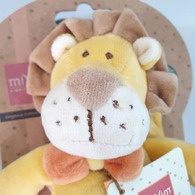 【微瑕品出清】miYim有機棉手搖鈴 里歐獅子