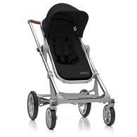 丹麥Seed - Papilio頂級嬰兒推車 (銀車架+黑座椅)