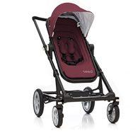 丹麥Seed - Papilio頂級嬰兒推車 (黑車架+紅座椅)