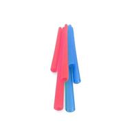Silikids 果凍餐具 六入矽膠吸管組(三種尺寸)紅藍
