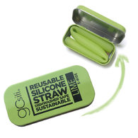 Silikids 果凍餐具 珍奶款 單支隨行口袋組(青檸綠)