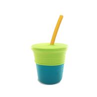 Silikids 果凍餐具 矽膠吸管杯組(草綠)