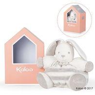 Kaloo - Bebe Pastel屋型免兔玩偶-大-淺灰奶霜白