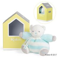 Kaloo -Bebe Pastel屋型熊熊玩偶-小-水藍奶霜白