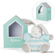 Kaloo -Bebe Pastel屋型免兔玩偶-中-水藍奶霜白