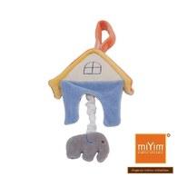 miYim有機棉音樂拉鈴 大象房屋