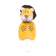 miYim有機棉安撫奶嘴鍊夾 里歐獅子