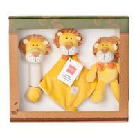 miYim有機棉安撫玩具禮盒組 里歐獅子