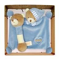 miYim有機棉晚安小熊禮盒 藍色