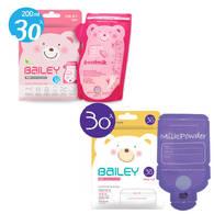 BAILEY感溫母乳儲存袋(壺嘴型30入)+奶粉袋(30入)