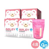 【超值4盒組】BAILEY感溫母乳儲存袋(基本型) 90入