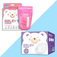 BAILEY感溫母乳儲存袋(基本型30入)+防溢乳墊(120入)
