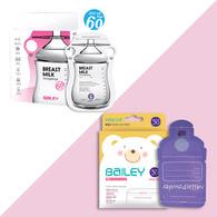 BAILEY感溫母乳儲存袋(指孔型60入)+奶粉袋(30入)