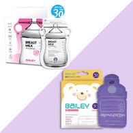 BAILEY感溫母乳儲存袋(指孔型30入)+奶粉袋(30入)