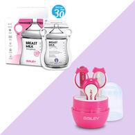 BAILEY感溫母乳儲存袋(指孔型30入)+指甲剪四件組