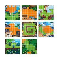 AniBlock安尼博樂 AR積木拼圖 2色圖卡擴充包 (橘&綠)