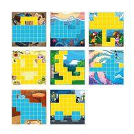 AniBlock安尼博樂 AR積木拼圖 2色圖卡擴充包 (黃&藍)