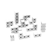 AniBlock安尼博樂 AR積木拼圖 單色積木 (白色)