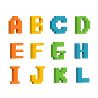 AniBlock安尼博樂 AR積木拼圖 ABC字母學習擴充包