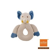 miYim有機棉固齒手搖鈴 大象