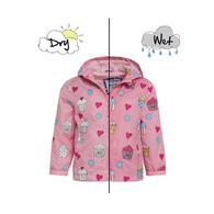 HOLLY & BEAU變色雨衣 粉紅蛋糕