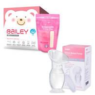 BAILEY感溫母乳儲存袋(基本型90入)+集乳器