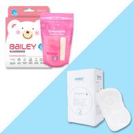 BAILEY感溫母乳儲存袋(基本型30入)+乳頭保護罩