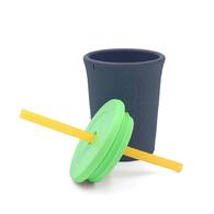 Silikids 果凍餐具 TOGO矽膠吸管杯組12oz(酷灰)