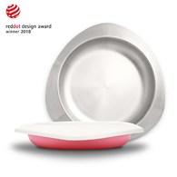 VIIDA Soufflé 抗菌不鏽鋼餐盤-甜心粉