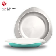 VIIDA Soufflé 抗菌不鏽鋼餐盤-湖水綠