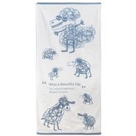 cindymode 藍色浴巾-六隻小羊與大野狼