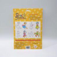 【出清】澳洲Flexcils 可彎曲蠟筆 繪圖套組 (7色蠟筆+4款圖紙) 女孩款