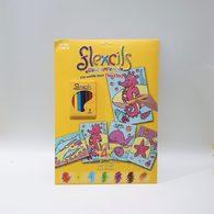 【出清】澳洲Flexcils 可彎曲蠟筆 繪圖套組 (7色蠟筆+4款圖紙) 海洋動物款
