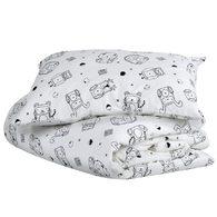 mezoome有機棉床組(枕頭套+被套) 棉花糖